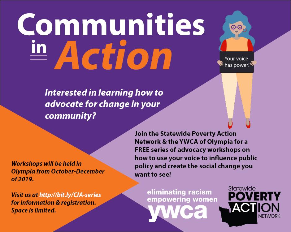 Communities In Action Workshop Series #1 @ YWCA Olympia