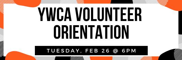 YWCA Volunteer Orientation: February 2019 @ YWCA Olympia | Olympia | Washington | United States
