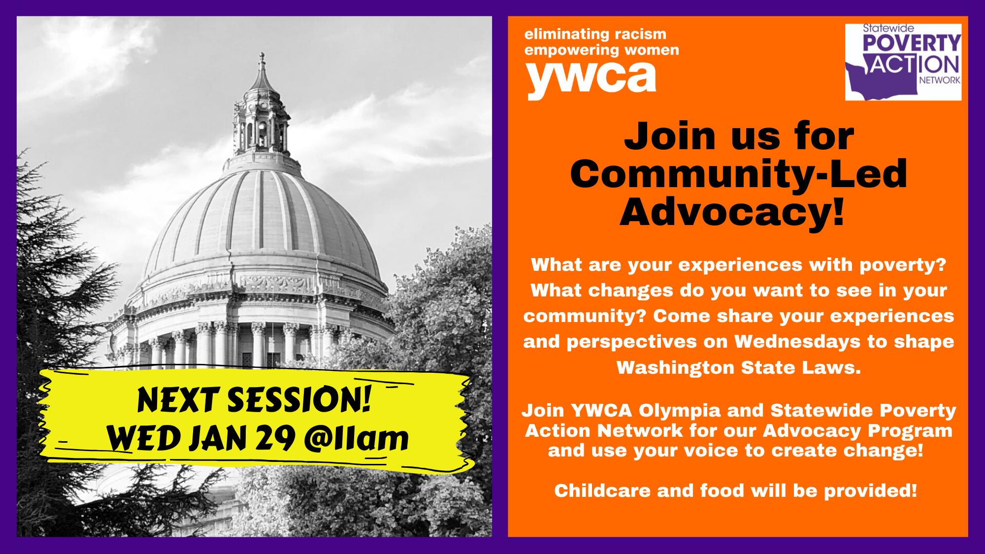 YWCA & Statewide Poverty Action Network Advocacy Program @ YWCA Olympia